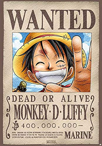 One Piece Wanted Unisex Póster Standard, Papel, 68x98 cm