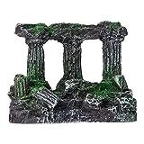 U/K Decoración de columna romana artificial para acuario, aspecto envejecido, calidad fiable