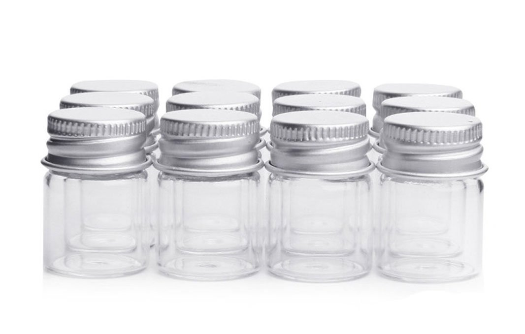 10PCS 5ML Empty Sample Glass Containers Bottles Vials with Seattle Max 85% OFF Mall Jars
