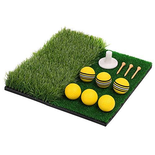 Ablita Alfombrilla de entrenamiento de golf de dos colores, para entrenamiento de golf, para interior y exterior, para entrenamiento de golf