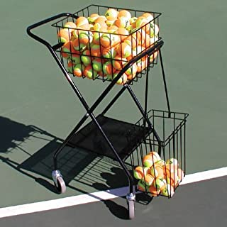 Oncourt Offcourt Mini Coach's Cart – 150 Ball Capacity/Portable Traveling Cart/Comes with Removable Divider