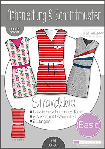 Schnittmuster kibadoo Basic Strandkleid Kids Papierschnittmuster
