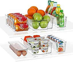 StorageMaid Stackable Storage Refrigerator Organizer Bins for Fridge, Freezer, Pantry and Kitchen. Includes Bonus Magnetic...