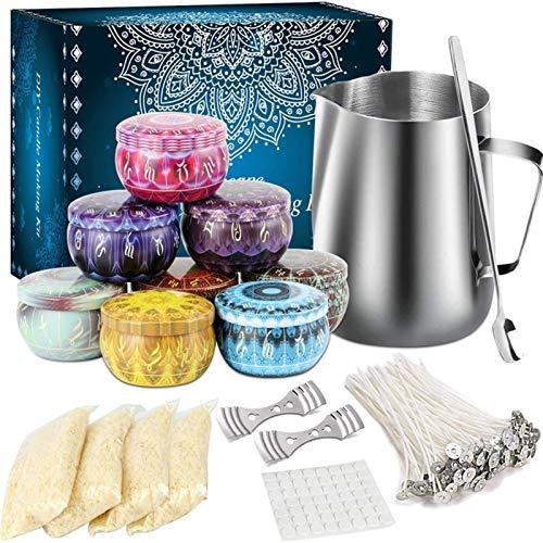 Duftkerze DIY Kit, Candle Making Kit für Erwachsene, Candle Craft Tools für Anfänger, DIY Duftkerzen Geschenkset, Bestes Geschenk für Weihnachten