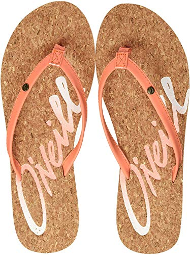 O'Neill FW LOGO CORK SANDALS Zehentrenner Damen, Orange (Neon Peach 2511), 36 EU