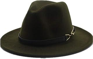 Fashion Sun Hat for Women Men Fashion Wool Fedora Hat for Gentleman Elegant Lady Floppy Cloche Wide Brim Jazz Church Godfather Sombrero Cap Suitable for hot Weather Season