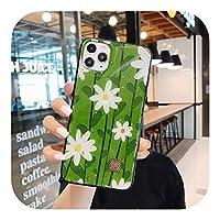 Sfrjar 高級動物の花ゴールドフォイルシリコン電話ケースiphone11 12 Mini Pro Max X XR XS MAX 6 6S 7 8Plusかわいい犬の裏表紙-Style 4-For iphone 7