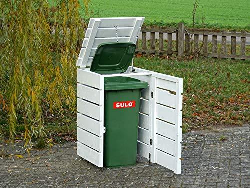 1er Mülltonnenbox / Mülltonnenverkleidung 120 L Holz, Grau Geölt