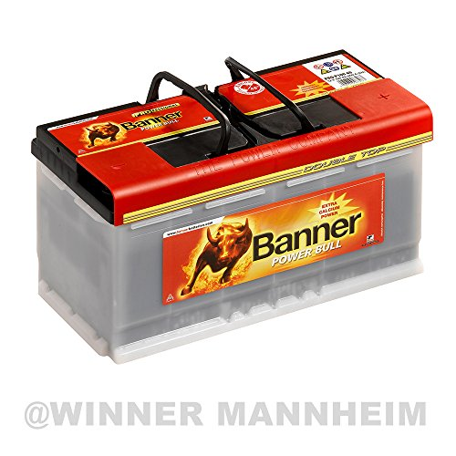 Banner Autobatterie 100AH 12V 820A/EN Power Bull Professional ersetzt 88Ah 92Ah 95Ah