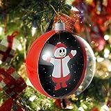 VOLADOR 3D Illusion Christmas Ball, 3D Holographic Optical Effect Christmas Night Light, Hanging Christmas Ornament for Home Decoration, Holiday Birthday Kids Gift