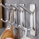Taozun Towel Hook - Self Adhesive Hooks Bathroom Hooks Stainless Steel Robe Coat Hook 4-Packs