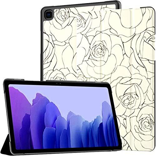 Funda para Samsung Galaxy Tab A7 Tablet 2020 de 10,4 Pulgadas (sm-t500 / t505 / t507), Fondo Transparente Rosa Ilustración Vectorial Cubierta de Soporte de ángulo múltiple con activación/suspensión