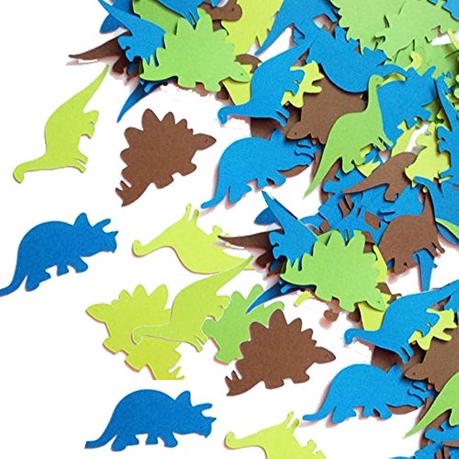 bluegarlic Dinosaur Confetti Paper Party Table Decorations Children Party Favor | Mix Colors c| 1.6 inch Length| 200pcs (Dinosaur Confetti)