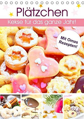 Plätzchen. Kekse für das ganze Jahr! (Tischkalender 2020 DIN A5 hoch): Küchenkalender mit köstlichen Rezepten für das beliebteste Feingebäck! (Monatskalender, 14 Seiten ) (CALVENDO Tiere)