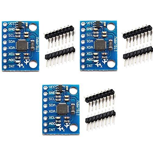 TIN-YAEN G-521 Mpu-6050 Mpu6050 3-axis Accelerometer Groscope Module 6 DOF 6-axis Accelerometer Groscope Sensor Module 16-bit AD Converter Data Output IIC I2 °C For Arduino Control Module Accessor