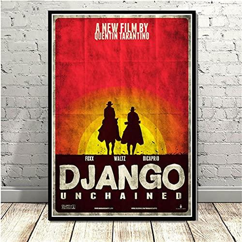 Weijiajia Quentin Poster And Prints Tarantino Django Unchained Classic Film Art Pittura murale Immagini per Soggiorno Decorazioni per la casa 50x70cm (19.68x27.55 in) F-424