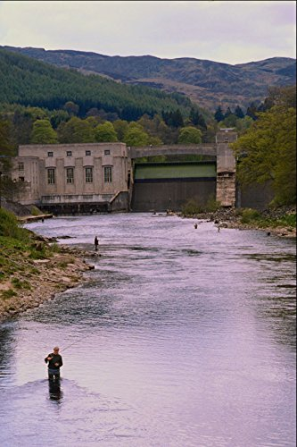 557066 Fishing The Tunnel River Near The Salmon Ladders Scotland A4 Photo Poster Print 10x8