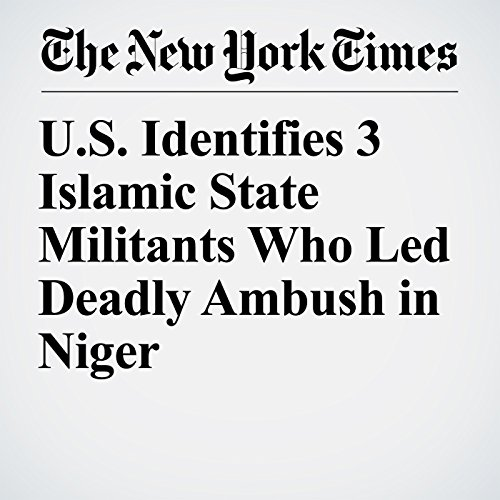 U.S. Identifies 3 Islamic State Militants Who Led Deadly Ambush in Niger copertina