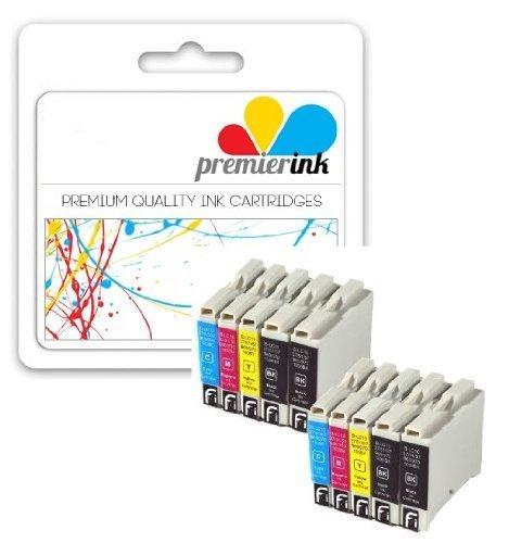Premier Ink Multipack de 10 cartuchos de tinta XL compatibles con Brother Lc1000 Lc 1000 Lc970 Lc 970 (4X Negro & Ea. 2X Cyan Magenta Amarillo) Lc1000Bk/Lc970Bk + Lc1000Y/Lc970Y + Lc1000C/Lc970C + Lc1000M/Lc970M para Brother Dcp-130C / Dcp-135C / Dcp-150C / Dcp-155C / Dcp-330C / Dcp-350C / Dcp-375C / Dcp-540Cn / Dcp750Cw / Dcp-770Cw / Dcp-560Cn / Brother Mfc-230C / Mfc-235C / Mfc-240Cn / Mfc-240C / Mfc-260C / Mfc-440Cn / Mfc-465Cn / Mfc-660Cn / Mfc-665Cw / Mfc-680Cn / Mfc-685Cw / Mfc-345Cw
