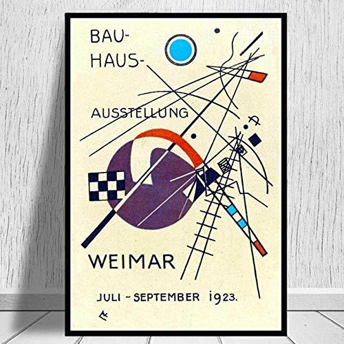 Bauhaus 1923 Weimer exposición carteles abstractos e impresiones cuadro de arte de pared familia sin marco lienzo pintura A4 15x20cm