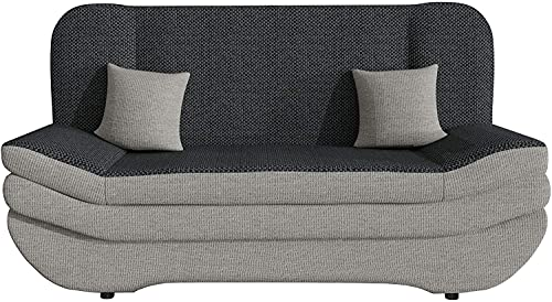 OBLLER Sofa Bed, Sofa with Bed Box and Sleep Function, Large Choice of Colours and Materials, Living Landscape (200 X 90 X 95 Centimetres) (D)