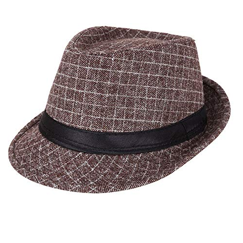 AIEOE - Sombrero Jazz de Copa Disfraz para Hombre Gorro Invierno Cálido...