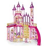 Steffi Love 3-stöckiges Schloss mit 2 Puppen Evi Love Reichliches Zubehör 1 Meter Höhe Dream...