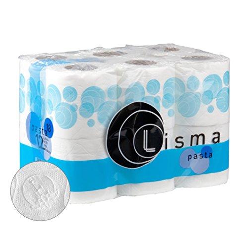 Papel higienico doméstico, doble capa, paquetes de 12 rollos (4 paquetes)