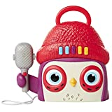Becca's Bunch Owl Kids Karaoke Machine with Microphone Preschool Toys Player, Play, Stop, Volume Buttons