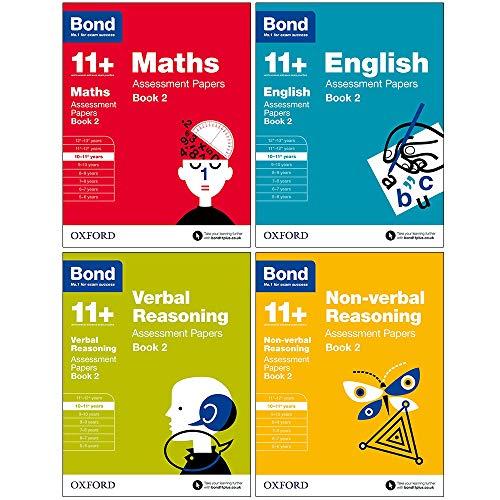 Bond 11+: Assessment Papers Book 2 ,10-11+ years Bundle: English, Maths, Non-verbal Reasoning, Verbal Reasoning.