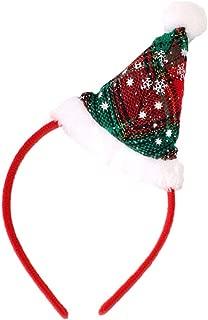 Ragazze Natale Festive Rosso Decorazioni Babbo Natale Cappello Motivo Fascia Per Capelli Alice Fascia Per Capelli