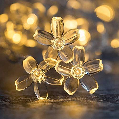 ZKCXIM Cherry Ball Led Fairy Tale String Lamp Battery USB 220v 110v Operation Wedding Christmas Outdoor Room Wreath Decoration Warm White Flowers