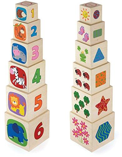 Viga Toys - 50392 - Forme À Trier Et À Empiler - Cubes Gigognes - 6 Cubes - Bois