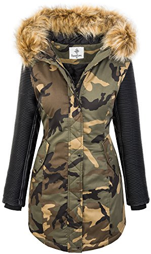 Rock Creek dames winter jas Parka Camouflage jas Army Jacket D-349