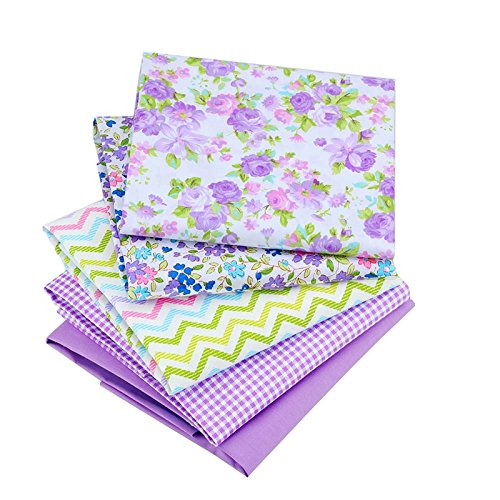 Floral Quilting Cotton Fabric Star Patchwork Fabric Fat Quarter Bundles Fabric For Handmade Bags Purse Pillowcase 40X50cm 8pcs/lot (As Picture Shown)