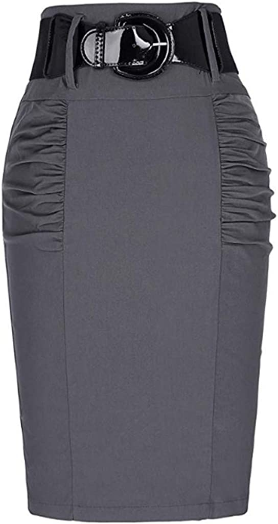 Skirts for Teens,Sale UOKNICE Gift Women Vintage Dress Women's Wear to Work Stretchy Office Pencil Skirts