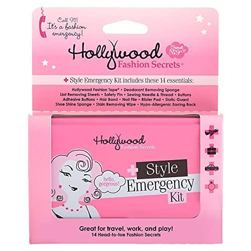Hollywood Fashion Secrets Style Emergency Kit - Tin, Complete Wardrobe Essential, Handy, Compact Wardrobe Repair, 14 Piece