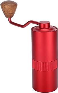 手動コーヒーグラインダー、ステンレス鋼ポータブル調節可能なハンドコーヒー豆グラインダーエアロプレス、ドリップコーヒー、エスプレッソ、フレンチプレス、トルコ製醸造用の取り外し可能なハンドル付きホールビーンバーコーヒーグラインダー