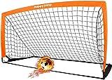 Happy Jump Pliable Cage de Foot 6'x3' But de Foot Enfant Exterieur pour Adulte Enfant Jardin Entrainement Football x1