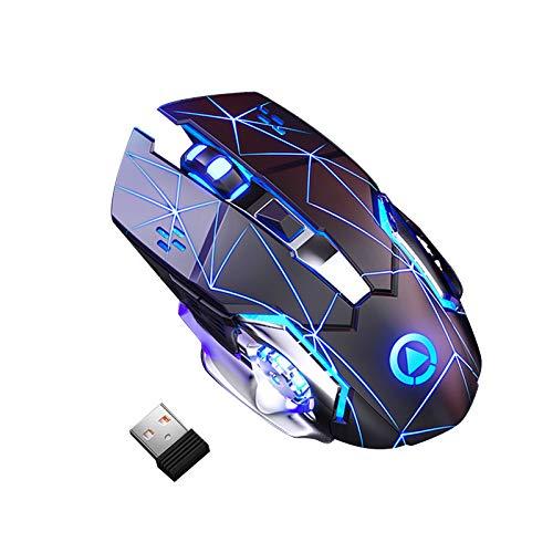 Sidougeri Gaming Mouse 3200 DPI 6 tasti leggero ultra silenzioso ricaricabile RGB