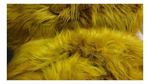 Fabrics de City León Amarillo Mammut pelo plástico través de 11cm de largo pelo Lanuda Pelo policíclicos, 3213