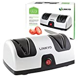 LINKYO Electric Knife Sharpener, Kitchen Knives Sharpening...