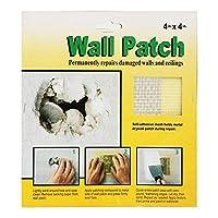 乾式壁修理パッチ、5個4 * 4in/6 * 6in/8 * 8in壁穴パッチ、ガラス繊 維を恒久的に修理できます乾式壁穴の天井の損傷を修正し、壁にしっかりとしっかりと貼り付けます(8*8in.)