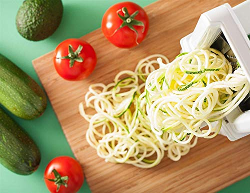 Product Image 6: Spiralizer 7-Blade Vegetable Slicer, Strongest-and-Heaviest Spiral Slicer, Best Veggie Pasta Spaghetti Maker for Keto/Paleo/Non-Gluten, Comes with 4 Recipe Ebooks