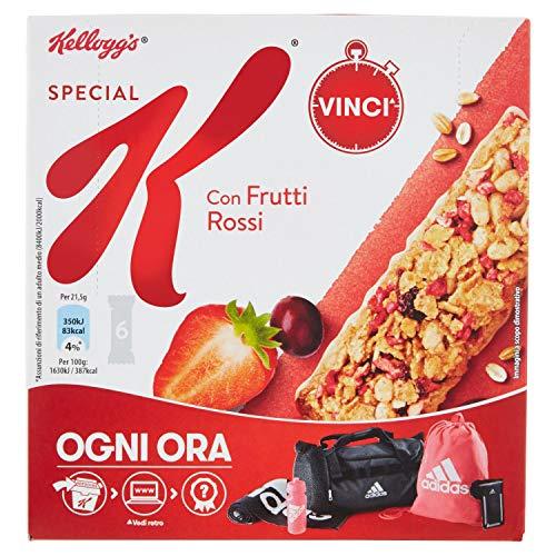 Kellogg's Special K Barretta Frutti Rossi - Confezione di 6 barrette da 21,5 g