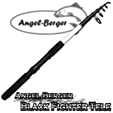 Angel-Berger Black Fighter Tele Teleskoprute Spinnrute (2.10m)
