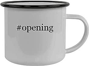 #opening - Stainless Steel Hashtag 12oz Camping Mug, Black