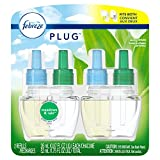 Febreze Plug Air Freshener Scented Oil Refill, Gain Meadows & Rain, 2 Count (Packaging May Vary)