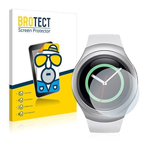 BROTECT 2X Entspiegelungs-Schutzfolie kompatibel mit Samsung Gear S2 Bildschirmschutz-Folie Matt, Anti-Reflex, Anti-Fingerprint