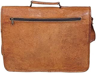 TUZECH Pure Leather Bag Hunter Styled Messenger Satchel Bag - FIts Laptop Upto 15.5 Inches